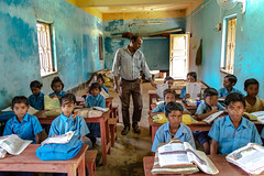 Classroom (Karunyaraj) Tags: westbengal school classroom blue class ruralbengal teacher student india schooluniform nikon24120 d610 cwc cwc742