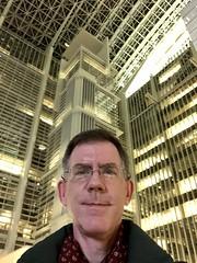 Paul in World Bank atrium, official 20th anniversary selfie, Washington, D.C. (Paul McClure DC) Tags: washingtondc districtofcolumbia nov2019 paulmcclure modern architecture worldbank