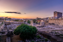 Hadrian's Library (BirthofSamuel) Tags: sunset picturesque breathtaking scenery view hadrian library ruins greek culture history athens greece autumn sigmalens sigma16mm14 sonyalpha sonya6000 a6000photography streetphotography
