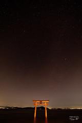 白髭神社 深夜3時 (tatsu_oto) Tags: 白髭神社 滋賀県 滋賀 shirahigeshrine shiga nightshot stars 星空 星