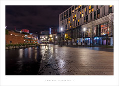 Towards Liverpool 1 (Parallax Corporation) Tags: liverpool1 wideangle streetlife liverpoolhilton merseyside nighttime reflections water streetlights shoppingcentre sonya7r4 zeissbatisfe18mmf28
