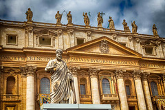 St Peters Basilica (Sydney Image Factory) Tags: sculpture hdr tamron vatican church stpeters italy seascape canon basilica 6d