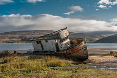 "The ""Point Reyes"" shipwreck, Inverness California (Joel Lamont) Tags: boats water bay abandoned fishingtrawler ocean pacific norcal bayarea marincounty pointreyes california sky clouds coast coastal shipwreck elitegalleryaoi bestcapturesaoi aoi tomalesbay"