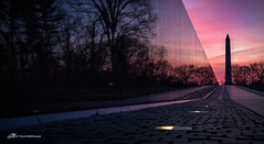 DC at Dawn (Matt Straite Photography) Tags: dc washington sunrise memorial monument vietnam color sky clouds landscape night dark