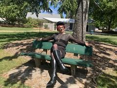 Cece 091119 (10) (rjrgmc28) Tags: adorkable black boots dork dress eyewear geek girl glasses pantyhose stockings tights transgender woman aspergirl