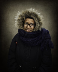Dorita (mckenziemedia) Tags: woman portrait portraiture face people humanity chicago city street streetphotography urban hood coat smile glasses homeless homelessness beauty beautiful