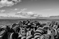 All the black smilys (Zoom58.9) Tags: sky clouds hills ocean water rubber coast seascape europe iceland grundarfjödur sony sonydscrx10m4 himmel wolken hügel meer wasser gummi küste seelandschaft europa island monochrome bw sw