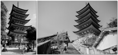Miyajima - Toyokuni Jinja - Pagoda (-dow-) Tags: japan hiroshima giappone itsukushima miyajima 日本 広島 宮島 厳島 pagoda toyokunijinja monochrome fujifilm x70 xe1 xf1855mm