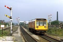 22/07/1987 - Miles Platting, Manchester. (53A Models) Tags: britishrail gmpte class142 pacer dmu 142004 diesel passenger milesplatting manchester train railway locomotive railroad