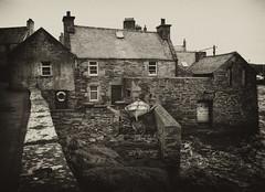 House by the Shore (johnny_9956) Tags: lerwick canon scotland 7d house blackandwhite bw building outdoor outside uk shetlands shetland island sepia