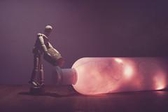 Bottle (Anikó Lázár) Tags: letitglow smileonsaturday bottle stilllife cork 50mm artistmannequin glow
