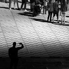 Chorzów 2019 (Tu i tam fotografia) Tags: people ludzie sylwetka silhouette człowiek man streetphotography fotografiauliczna streetphoto candid polska poland square quadrat kwadrat phone mobilephone blackandwhite noiretblanc enblancoynegro inbiancoenero bw monochrome czerń biel czerńibiel noir czarnobiałe blancoynegro biancoenero stadionśląski silesianstadium