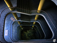 Aladdin's magic lamp (baumfinder) Tags: abandoned verlassen verfall staircase decay veb saxonia aladdins magic lamp urbex urbanexploration