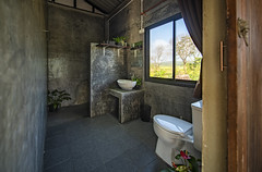 Modern toilet room with concrete wall (anekphoto) Tags: interior exterior building bathroom retro sky chiangrai chiangmai nan pua wood door wall concrete modern flower gargen country rest homestay room hotel nature green toilet plant wooden outdoor forest natural color fence travel garden windows park decoration public beautiful outdoors sanitary recycling restroom grass rustic outside outhouse tree rural