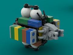 Sisyphus Class Aldrin Cycler Triple Stacked (The Hydromancer) Tags: ship lego space cargo container hauler mobile attack frame zero rapid orbit intercept hva aldrin cycler transport micro fi sci namofrafarmo mfz mf0
