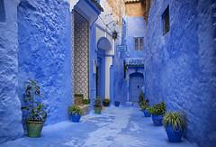 Pension cordoba (JLM62380) Tags: afrique africa stair escalier chefchaouen morocco town ville bleu blue door porte painting peinture rue street pension cordoba