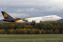 N617UP - Boeing 747-8F - United Parcel Service (UPS) (MikeSierraPhotography) Tags: 747 air airlines airport boeing cgn cgneddk cologne country deutschland germany köln manufacturer plane spotting town unitedparcelserviceups