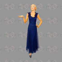 1930s Fine Lace Navy Blue Gown Dress  by Suzanne Laniel Paris (Rickenbackerglory.) Tags: vintage 1940s finelace navyblue gown dress suzannelaniel paris