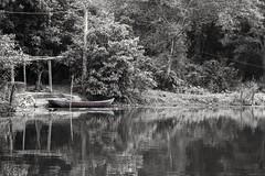 Barca solitaria B/N (rraass70) Tags: canon d700 rio agua ninbinh deltadelriorojo vietnam