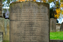 Unusual gravestone inscription (Allan Rostron) Tags: york suburbs churches graveyards gravestones acomb johnbenson bettybenson graves