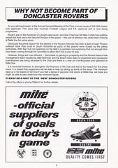Doncaster Rovers vs Gillingham - 1989 - Page 9 (The Sky Strikers) Tags: doncaster rovers gillingham belle vue ground barclays league division four official programme 60p