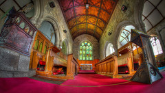 Classic Chancel and Alter with an unusual Lectern (Neville Wootton Photography) Tags: churches hdr lecterns churchinteriors roofs chancels arches luxulyan pl305ea stainedglasswindows alters aisles cornwall pews hdrx3