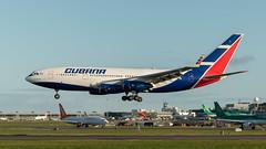 CU-T1250 Cubana Ilyushin Il-96 landing at EIDW from HAV October 2019 (Conor O'Flaherty) Tags: cubana ilyushin il96 cuba ireland dublin airport dublinairport eidw president aviation jet quad russian
