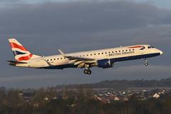 G-LCAA Embraer 190 EGPH 30-10-19 (MarkP51) Tags: glcaa embraer 190 bacityflyer cj cfe edinburgh airport edi egph scotland airliner aircraft airplane plane image markp51 nikon d500 nikonafp70300fx sunshine sunny