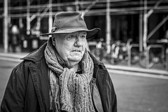 Life Is An Adventure (Leanne Boulton) Tags: street portrait urban candid streetphotography streetportrait streetlife portraiture candidportrait candidstreetphotography old autumn man cold male wool face hat weather scarf eyes mood emotion expression feeling knitted woolly detail texture bokeh depthoffield tone light outdoor naturallight shade life city people living humanity culture lifestyle scene human society uk blackandwhite bw white black monochrome canon mono scotland blackwhite glasgow 70mm canon5dmkiii ef2470mmf28liiusm