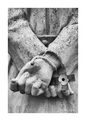 Remembrance (PeteZab) Tags: shotatdawn memorial statue bound poppy cross execution nationalmemorialarboretum blackandwhite monochrome uk peterzabulis remembrance war ww1