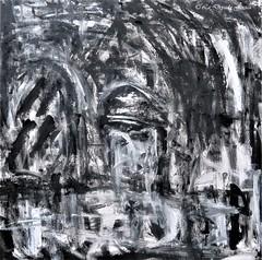 Dark surroundings VII (LaDryadaJessica) Tags: ladryadajessica art artdryadique dryadicart dark noir black noiretblanc blackandwhite peinture painting canvas artmoderne modernart