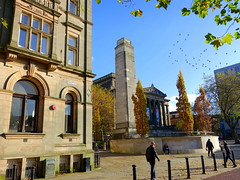 Cenotaph at the heart of Preston (Tony Worrall) Tags: scene cenotaph memorial hotel centre urban street people blue bluesky architecture building scenery preston lancs lancashire city welovethenorth nw northwest north update place location uk england visit area attraction open stream tour photohour photooftheday pics country item greatbritain britain english british gb capture buy stock sell sale outside outdoors caught photo shoot shot picture captured ilobsterit instragram photosofpreston november