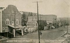 After the Great Flood, March 1, 1910 - Colfax, Washington (Shook Photos) Tags: postcard postcards flood disaster palouseriver flooding damage colfxwashington colfax washington whitmancounty