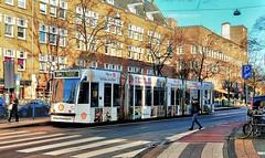 We Shell Overcome? (Peter ( phonepics only) Eijkman) Tags: amsterdam city combino colorbino gvb tram transport trams tramtracks trolley rails rail strassenbahn streetcars nederland netherlands nederlandse noordholland holland