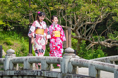 On the bridge...Kyoto (geolis06) Tags: japon072017 portrait japan kyoto asia suit 日本 kimono asie gion cloth japon vêtement 2017 tradionnel geolis06 street lady unesco beauté lovely rue unescoworldheritage unescosite patrimoinemondial