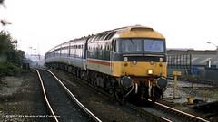 22/07/1987 - Miles Platting, Manchester. (53A Models) Tags: britishrail brush type4 47406 railriders diesel passenger milesplatting manchester train railway locomotive railroad
