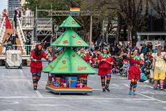 Christmas Pride (Serendigity) Tags: adelaide christmas christmaspageant parade australia sa southaustralia wakefieldstreet city costumes float gaypride rainbowflag