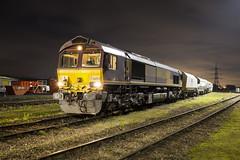 66004 Ready to work 6N37 08/11/19 (Wayne M Walsh) Tags: 66004 junction jct hoo rochester kent uk england class66 medway train dark depot yard ews