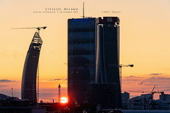 CityLife, Milano (Obliot) Tags: a7r3 storto milano grattacieli citylife obliot dritto sunset sole sony novembre 2019 a7riii curvo