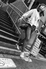 Akasakamisuji Street 2 (MLopht Photography | Dortmund) Tags: japan tokyo akasaka akasakamisujistreet stadt city metropole einkaufsstrase shoppingmall geschäft restaurant strase mensch frau streetphotography streetfotografie schwarzweis einfarbig blackandwhite bw sony alpha 6300 sonyalpha6300 ilce6300 sigma 19mm streetshot tokyoakasaka