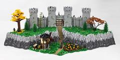 The Gates of Corvale (Jonathan_S.) Tags: lego legocastle castle medieval legomedieval fantasy legofantasy legorytharempire legowindmill