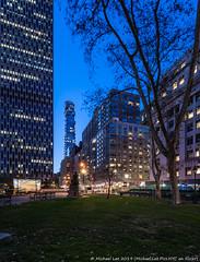 Foley Square (20191108-DSC08519-Edit) (Michael.Lee.Pics.NYC) Tags: newyork night twilight bluehour longexposure foleysquare architecture cityscape skyline shiftlens sony a7rm4 laowa12mmf28 magicshiftconverter 56leonardstreet tribeca