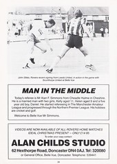 Doncaster Rovers vs Gillingham - 1989 - Page 20 (The Sky Strikers) Tags: doncaster rovers gillingham belle vue ground barclays league division four official programme 60p