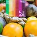 Kraftling 50 Gramm Ingwer Verpackung in einem Obst und Gemüsekorb