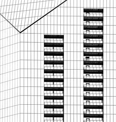 Graphic Architecture (2n2907) Tags: blackwhite bw abstract architecture glass office building windows skyscraper graphic geometric geometry pattern lines graphical design outline urban balconies
