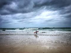 Little Big Surfer (G.Billon) Tags: seaside seascape beachscape surfer surf bretagne cameraphone iphoneography 35 îleetvilaine breizh bzh saintlunaire gbillon