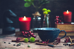 Hello winter, time to get cozy! (Chapter2 Studio) Tags: stilllife darkmood moody coffee chapter2studio classic cup mug blue candle red lifestyle winter cozy sonya7ii sony