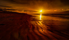 Ripples in the Sand (David Hamments) Tags: waikanaebeachwalk nz sunset duskwalk crepuscularrays