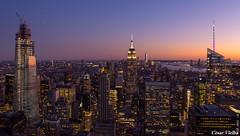 Manhattan (cvielba) Tags: atardecer empirestate estadosunidos manhattan mirador newyork rockefeller topoftherock
