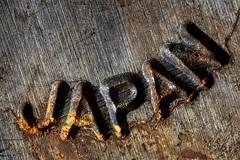 Japan (Adam Merrifield) Tags: metal steel orange corruption decay rust japan tool dropforge closeup macro